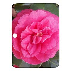 Pink Flower Japanese Tea Rose Floral Design Samsung Galaxy Tab 3 (10 1 ) P5200 Hardshell Case  by yoursparklingshop