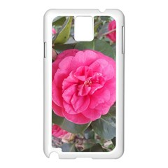 Pink Flower Japanese Tea Rose Floral Design Samsung Galaxy Note 3 N9005 Case (white) by yoursparklingshop
