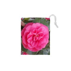 Pink Flower Japanese Tea Rose Floral Design Drawstring Pouches (xs)