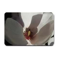 Magnolia Floral Flower Pink White Small Doormat  by yoursparklingshop