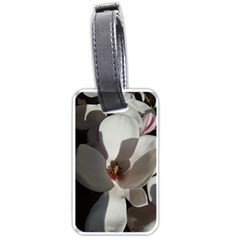 Magnolia Floral Flower Pink White Luggage Tags (one Side)  by yoursparklingshop