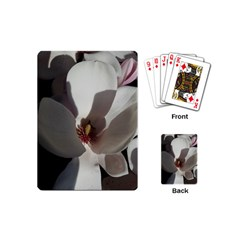 Magnolia Floral Flower Pink White Playing Cards (mini)  by yoursparklingshop