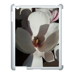 Magnolia Floral Flower Pink White Apple Ipad 3/4 Case (white) by yoursparklingshop