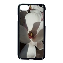 Magnolia Floral Flower Pink White Apple Iphone 7 Seamless Case (black) by yoursparklingshop
