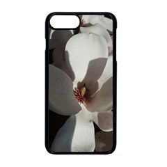 Magnolia Floral Flower Pink White Apple Iphone 8 Plus Seamless Case (black) by yoursparklingshop