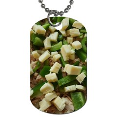 Cheese And Peppers Green Yellow Funny Design Dog Tag (one Side) by yoursparklingshop