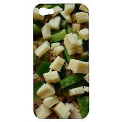 Cheese And Peppers Green Yellow Funny Design Apple Iphone 5 Hardshell Case by yoursparklingshop