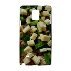 Cheese And Peppers Green Yellow Funny Design Samsung Galaxy Note 4 Hardshell Case by yoursparklingshop