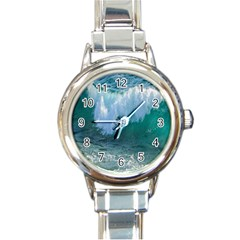Awesome Wave Ocean Photography Round Italian Charm Watch by yoursparklingshop