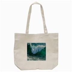 Awesome Wave Ocean Photography Tote Bag (cream) by yoursparklingshop