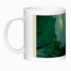 Awesome Wave Ocean Photography Night Luminous Mugs by yoursparklingshop