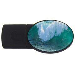 Awesome Wave Ocean Photography Usb Flash Drive Oval (4 Gb) by yoursparklingshop