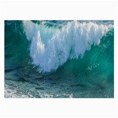 Awesome Wave Ocean Photography Large Glasses Cloth by yoursparklingshop