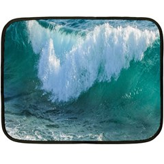 Awesome Wave Ocean Photography Fleece Blanket (mini) by yoursparklingshop