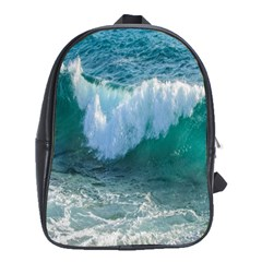 Awesome Wave Ocean Photography School Bag (large) by yoursparklingshop