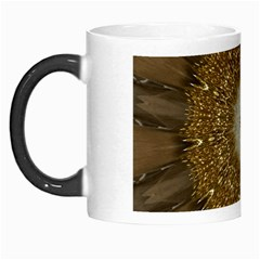 Elegant Festive Golden Brown Kaleidoscope Flower Design Morph Mugs by yoursparklingshop