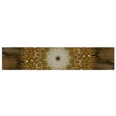 Elegant Festive Golden Brown Kaleidoscope Flower Design Small Flano Scarf by yoursparklingshop