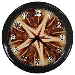 Spaghetti Italian Pasta Kaleidoscope Funny Food Star Design Wall Clocks (black) by yoursparklingshop
