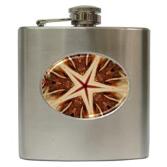 Spaghetti Italian Pasta Kaleidoscope Funny Food Star Design Hip Flask (6 Oz) by yoursparklingshop