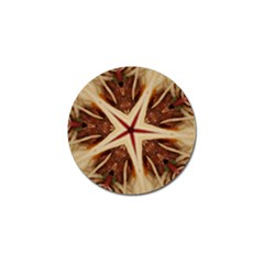 Spaghetti Italian Pasta Kaleidoscope Funny Food Star Design Golf Ball Marker (4 Pack) by yoursparklingshop