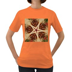 Spaghetti Italian Pasta Kaleidoscope Funny Food Star Design Women s Dark T-shirt by yoursparklingshop
