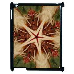 Spaghetti Italian Pasta Kaleidoscope Funny Food Star Design Apple Ipad 2 Case (black) by yoursparklingshop