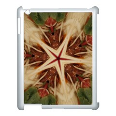 Spaghetti Italian Pasta Kaleidoscope Funny Food Star Design Apple Ipad 3/4 Case (white) by yoursparklingshop