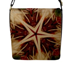 Spaghetti Italian Pasta Kaleidoscope Funny Food Star Design Flap Messenger Bag (l)  by yoursparklingshop