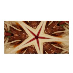 Spaghetti Italian Pasta Kaleidoscope Funny Food Star Design Satin Wrap by yoursparklingshop