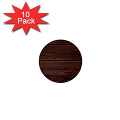 Rustic Dark Brown Wood Wooden Fence Background Elegant 1  Mini Buttons (10 Pack)  by yoursparklingshop