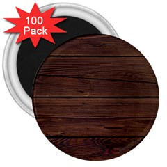 Rustic Dark Brown Wood Wooden Fence Background Elegant 3  Magnets (100 Pack) by yoursparklingshop