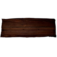 Rustic Dark Brown Wood Wooden Fence Background Elegant Body Pillow Case (dakimakura) by yoursparklingshop