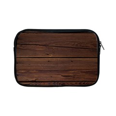 Rustic Dark Brown Wood Wooden Fence Background Elegant Apple Ipad Mini Zipper Cases by yoursparklingshop