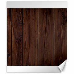 Rustic Dark Brown Wood Wooden Fence Background Elegant Natural Country Style Canvas 8  X 10