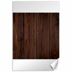 Rustic Dark Brown Wood Wooden Fence Background Elegant Natural Country Style Canvas 24  X 36  by yoursparklingshop
