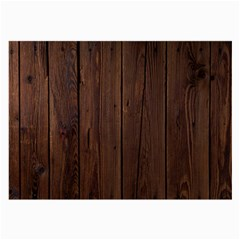 Rustic Dark Brown Wood Wooden Fence Background Elegant Natural Country Style Large Glasses Cloth by yoursparklingshop