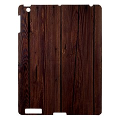 Rustic Dark Brown Wood Wooden Fence Background Elegant Natural Country Style Apple Ipad 3/4 Hardshell Case by yoursparklingshop