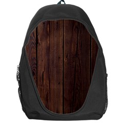 Rustic Dark Brown Wood Wooden Fence Background Elegant Natural Country Style Backpack Bag by yoursparklingshop