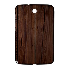 Rustic Dark Brown Wood Wooden Fence Background Elegant Natural Country Style Samsung Galaxy Note 8 0 N5100 Hardshell Case  by yoursparklingshop