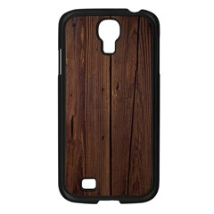 Rustic Dark Brown Wood Wooden Fence Background Elegant Natural Country Style Samsung Galaxy S4 I9500/ I9505 Case (black) by yoursparklingshop