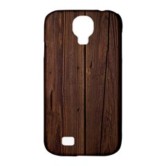 Rustic Dark Brown Wood Wooden Fence Background Elegant Natural Country Style Samsung Galaxy S4 Classic Hardshell Case (pc+silicone) by yoursparklingshop