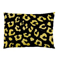 Skin5 Black Marble & Yellow Watercolor Pillow Case by trendistuff