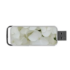 Hydrangea Flowers Blossom White Floral Elegant Bridal Chic Portable Usb Flash (one Side) by yoursparklingshop