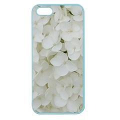 Hydrangea Flowers Blossom White Floral Elegant Bridal Chic Apple Seamless Iphone 5 Case (color) by yoursparklingshop
