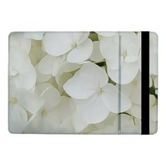 Hydrangea Flowers Blossom White Floral Elegant Bridal Chic Samsung Galaxy Tab Pro 10 1  Flip Case by yoursparklingshop