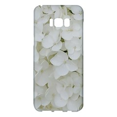 Hydrangea Flowers Blossom White Floral Elegant Bridal Chic Samsung Galaxy S8 Plus Hardshell Case  by yoursparklingshop