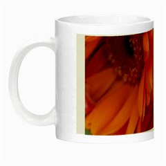 Floral Photography Orange Red Rose Daisy Elegant Flowers Bouquet Night Luminous Mugs by yoursparklingshop