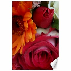 Floral Photography Orange Red Rose Daisy Elegant Flowers Bouquet Canvas 20  X 30   by yoursparklingshop