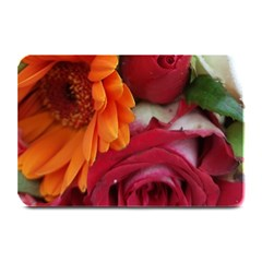Floral Photography Orange Red Rose Daisy Elegant Flowers Bouquet Plate Mats