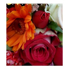Floral Photography Orange Red Rose Daisy Elegant Flowers Bouquet Shower Curtain 66  X 72  (large)  by yoursparklingshop